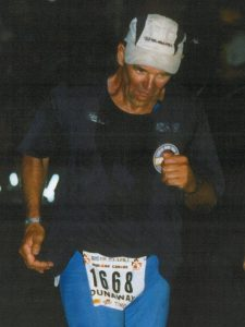author Dan Dunaway competing in Ironman